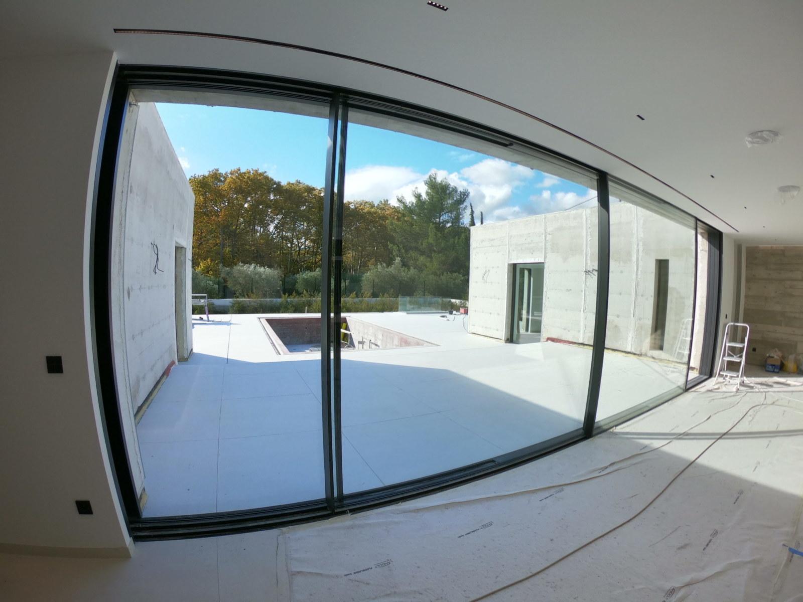 Villa contemporaine vue intérieur du salon