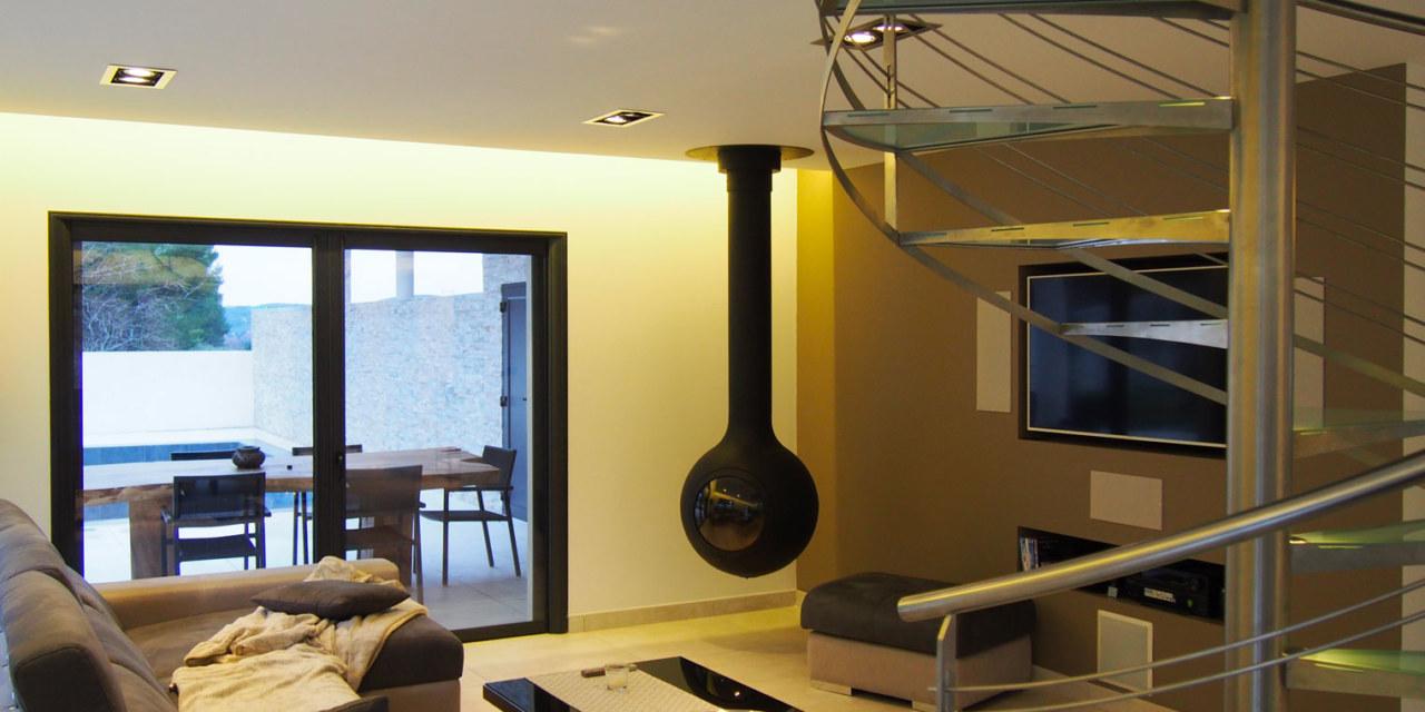 Villa intégration vue salon